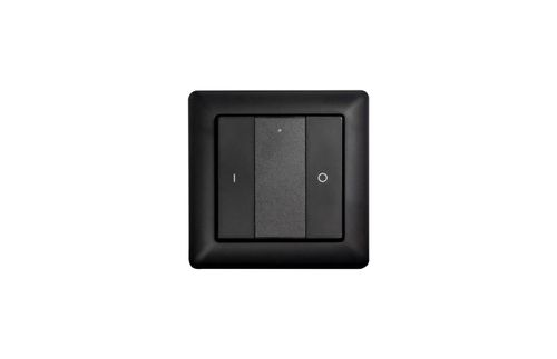 Heatit Z-Push Button 2 Black Batteridrevet veggbryter