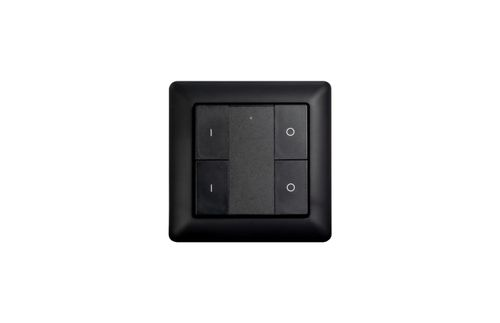 Heatit Z-Push Button 4 Black Batteridrevet veggbryter