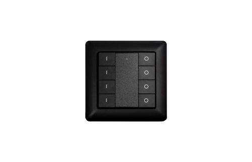 Heatit Z-Push Button 8 Black Batteridrevet veggbryter (4512681)