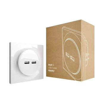 FIBARO Walli N USB Outlet for veggboks 2 x USB (4512593)