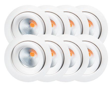 SG Junistar Eco IsoSafe 8pk Matt hvit 6W LED 2700K Ra98