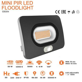 ThorgeOn Lyskaster PIR 50W LED 4000K (4751029891013)