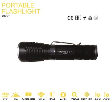 ThorgeOn Lommelykt 10W LED Zoom (4751029890887)