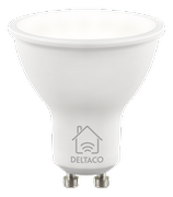 Deltaco Smart Home GU10 5W LED WiFi 2700K-6500K