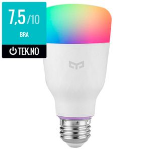 Xiaomi Yeelight Smart LED Bulb Colour, 2. gen, 1700K - 6500K, E27, Wi-Fi (YLDP06YL)
