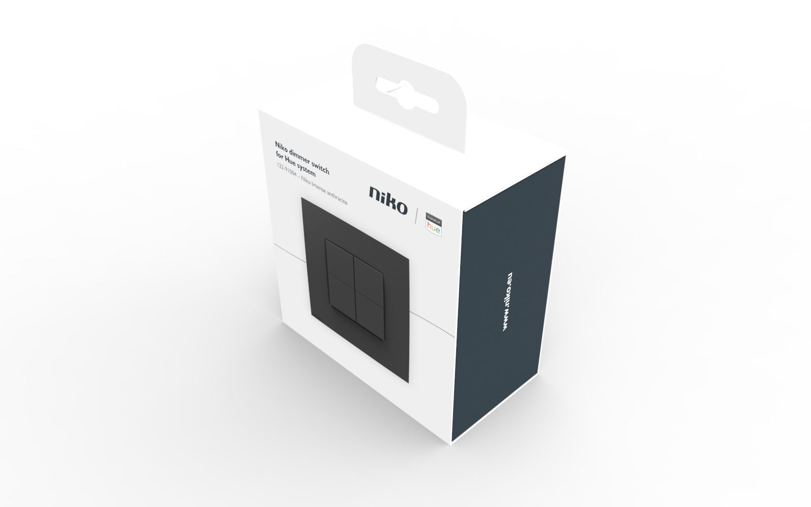 NIKO Dimmer switch HUE intense anthracite (5413736363625)