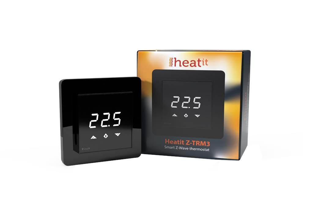 Heatit Z-TRM3 Sort Z-Wave termostat 3600W 16A 868,4 MHz (5430598)