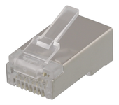 Deltaco RJ45 Cat6 Plugg for skjermet patchekabel 20pk (092-MD-21S)