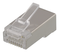 Deltaco RJ45 Cat6 Plugg for skjermet patchekabel 20pk