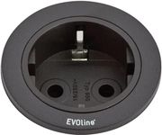 EVOLINE One 1xStikk 230V sort (159280000900)