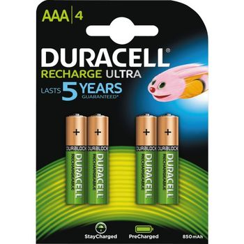 DURACELL Recharge Ultra AAA 850mAh 4pk - Precharged (5000394203822-)