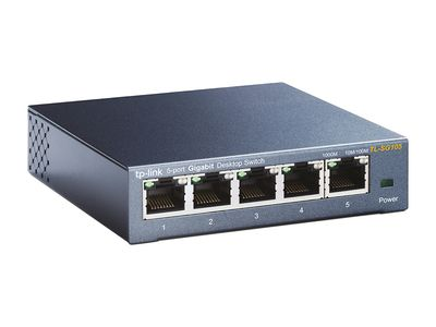 TP-LINK 5-PORT METAL GIGABIT SWITCH 5 10/ 100/ 1000M RJ45 PORTS        IN CPNT (TL-SG105)