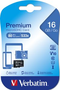 VERBATIM SD Micro Card 16 GB (SDHC)  (44010)