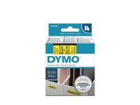 DYMO D1 12mm tape sort/gul (S0720580)