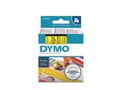 DYMO D1 Tape / 6mm x 7m / Black Text / Yellow Tape