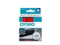 DYMO D1 Tape / 9mm x 7m / Black Text / Red Tape