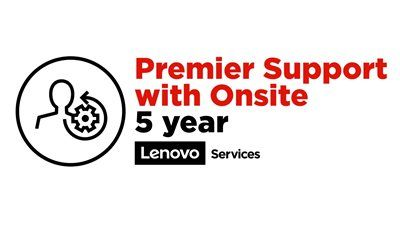LENOVO 5Y Premier Support with Onsite NBD Upgrade from 1Y Depot/CCI (5WS0T36181)