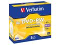 VERBATIM DVD+RW 4,7GB Branded Matt Silver 4xSpeed *5-pack* Jewel Case