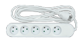Nordic Quality 5-way socket grounded (D),3m