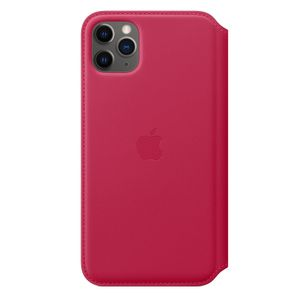 APPLE iPhone 11 Pro Max Leather Folio - Raspberry (MY1N2ZM/A)