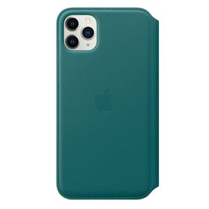 APPLE iPhone 11 Pro Max Leather Folio - Peacock (MY1Q2ZM/A)