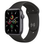APPLE Watch SE GPS, 44mm Space Gray Aluminium Case with Black Sport Band - Regular (MYDT2KS/A)