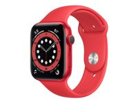 APPLE Watch Series 6 GPS, 44mm PRODUCT(RED) Aluminium Case with PRODUCT(RED) Sport Band - Regular (M00M3KS/A)