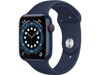 APPLE Watch Series 6 GPS + Cellular, 44mm Blue Aluminium Case with Deep Navy Sport Band - Regular (M09A3KS/A)