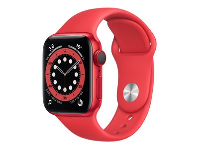 APPLE Watch Series 6 GPS + Cellular, 40mm PRODUCT(RED) Aluminium Case with PRODUCT(RED) Sport Band - Regular (M06R3KS/A)