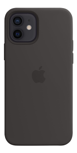 APPLE IPHONE 12 PRO SILICONE CASE WITH MAGSAFE - BLACK (MHL73ZM/A)