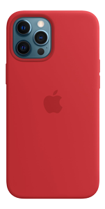 APPLE iPhone 12 Pro Max Silicone Case with MagSafe - (PRODUCT)RED (MHLF3ZM/A)