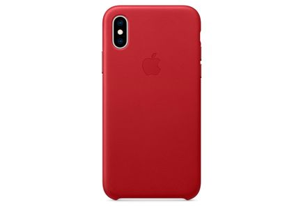 APPLE IPHONE XS LEATHER CASE RED MRWK2ZM/A (MRWK2ZM/A-OM)