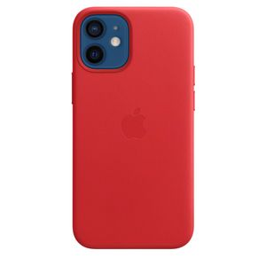 APPLE iPhone 12 mini Leather Case with MagSafe - (PRODUCT)RED (MHK73ZM/A)