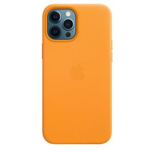 APPLE iPhone 12 Pro Max Leather Case with MagSafe - California Poppy (MHKH3ZM/A)