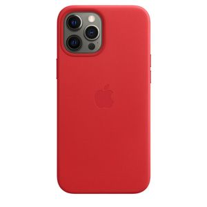 APPLE iPhone 12 Pro Max Leather Case with MagSafe - (PRODUCT)RED (MHKJ3ZM/A)