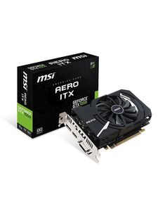 MSI GeForce GTX1050 2GB Aero ITX OC  Grafikkort,  PCI-Express 3.0, 2GB GDDR5, 1404/ 1518MHz,  Pascal (GEFORCE GTX 1050 AERO ITX 2G OCV1)