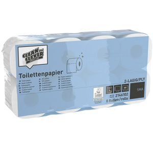 OnlineSupplies Toiletpapir SMA100 2-lags Natur Clean and Clever Sæk/64 (2133763)