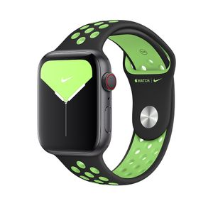 APPLE 44mm Black/ Lime Nike Sport Band Regular (MXR02ZM/A)