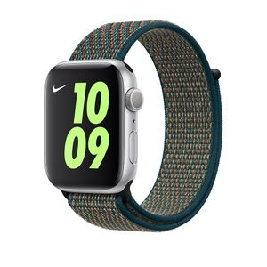 APPLE 44mm Crimson/ Neptune Green Nike Sport Loop (MXN62ZM/A)