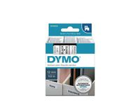 DYMO D1 12mm Tape Sort/Hvid