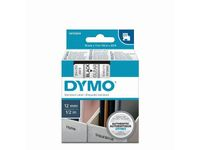 DYMO Tape Black on Clear 12mm
