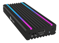 ICY BOX USB Type-C™ enclosure for M.2 NVMe SSD - RGB illuminated
