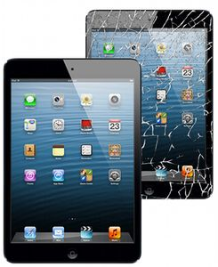 APPLE iPad Air knust glass sort (ipd5touchASMBsort)