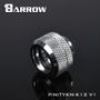 Barrow Hard Tubing fitting 8/12MM Silver