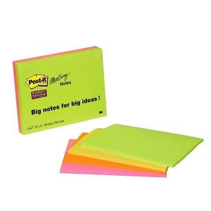 3M Post-it 64454SS Super Sticky Meeting Notes 98,4x149 neon (4) (7100043257)