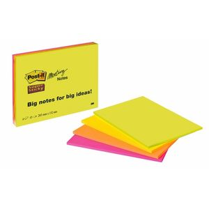 3M Post-it 6845SSP Super Sticky Meeting Notes 149x200 neon (4) (7100043258)