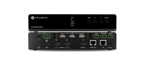 Atlona Five-Input Universal Switcher with Wireless Presentation Link (AT-UHD-SW-510W-EU)
