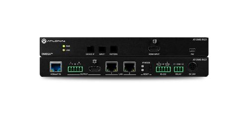 Atlona Omega 4K/UHD HDMI over HDBaseT Receiver w/Scaler, Ethernet, RS232, Audio Output, and HDMI Input (AT-OME-RX21)