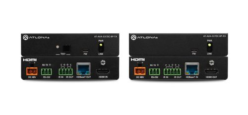 Atlona Avance 4K/UHD HDMI Transmitter and Receiver Kit with RS-232 and IR pass-through and bi-directional power (AT-AVA-EX70C-BP-KIT)