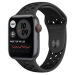 APPLE Watch Series SE (Nike) 44mm 4G grå/ antrasitt Space Gray Aluminium Case med Anthracite/ Black Nike Sport Band - Regular (MG0A3DH/A)